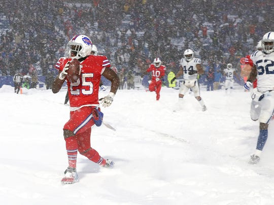 Bills LeSean McCoy scores the winning touchdown in overtime to beat the Colts 13-7.