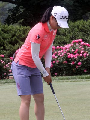 SooBin Kim on the practice green on day one of the KPMG Women's PGA Championship at Westchester Country Club in Harrison June 11, 2015.