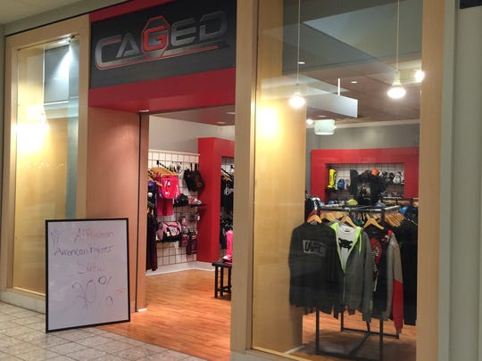 Caged moved to the Fox River Mall. It was previously located in downtown Appleton.