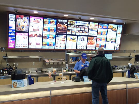The remodeled Culver's restaurant includes a larger menu board and open kitchen.