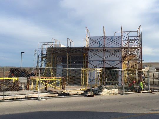 Construction resumed recent on the Green Bay area's second Dunkin Donuts location at 2455 Lineville Road in Howard.