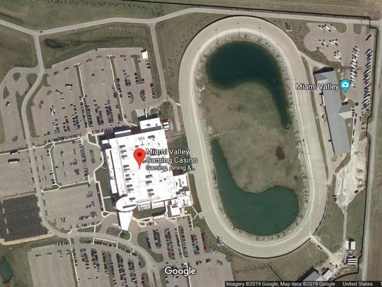 This is a screenshot from Google Earth of Miami Valley Gaming from a satellite camera.