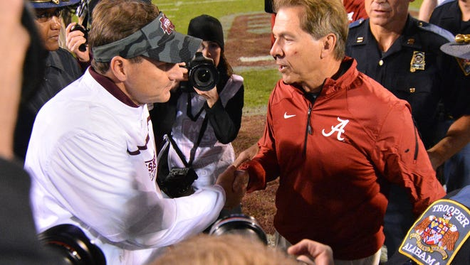 Mississippi State and Alabama will kickoff at 11 a.m. in Tuscaloosa on Nov. 12.