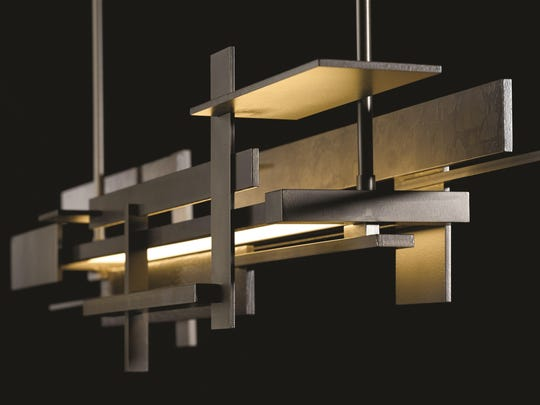 "Planar LED Pendant: Inspired by Frank Lloyd Wright's Fallingwater home, Hubbardton says ""Our Planar's LED light guide gives our designers a platform to integrate steel and light in either a very subtle manner."""