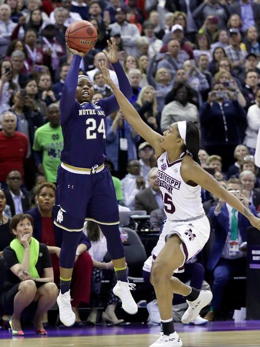 APTOPIX NCAA Championship Notre Dame Mississippi St Basketball