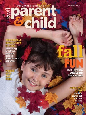 Sophie Huntington, 10, of Naples, models for the October cover.