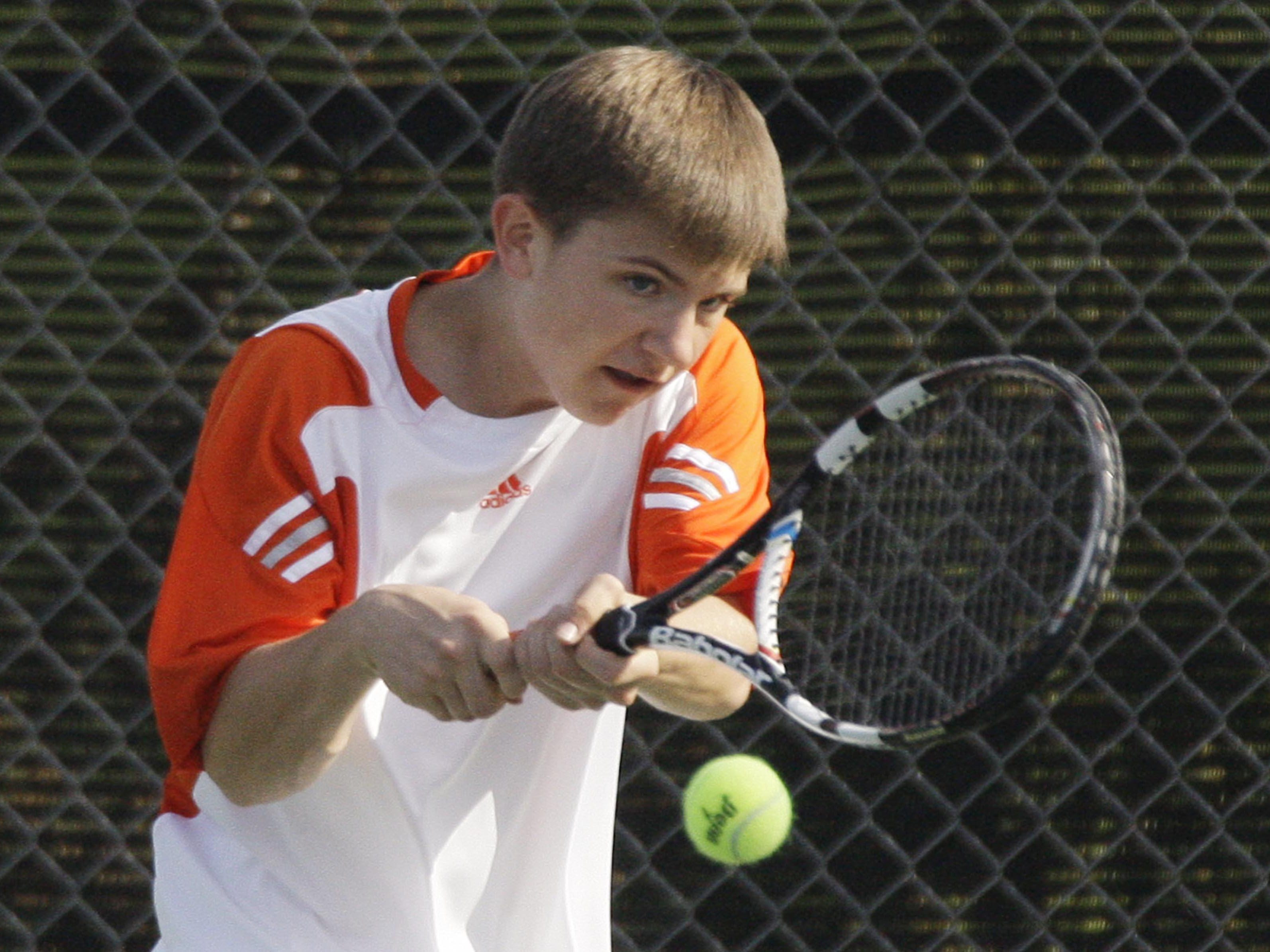 Plymouth junior Matt Primozic will be one of nine area tennis players competing at the WIAA State Tennis Tournament.