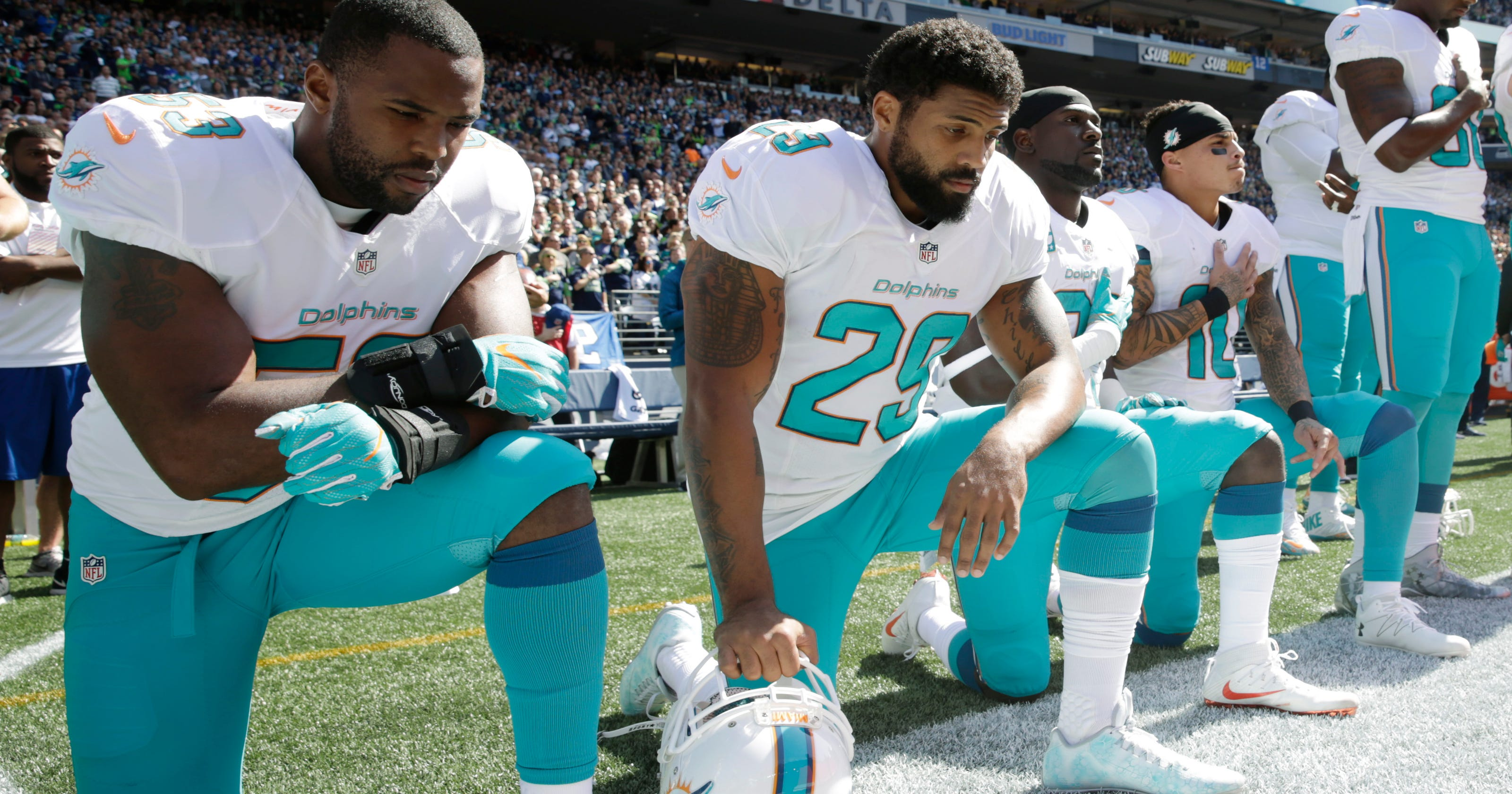 best service 1f951 b0169 Dolphins' Arian Foster on kneeling during anthem: This is ...