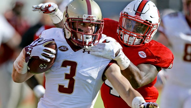 Former Naples High quarterback Michael Walker, a senior wide receiver for Boston College, is 11th nationally in kickoff returns.