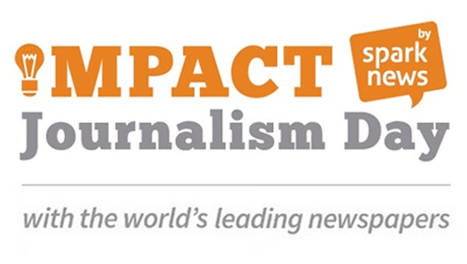 Promo logos for Impact Journalism Day
