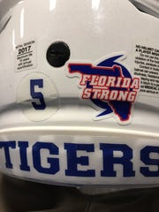 Tennessee State's players wore a special decal on their