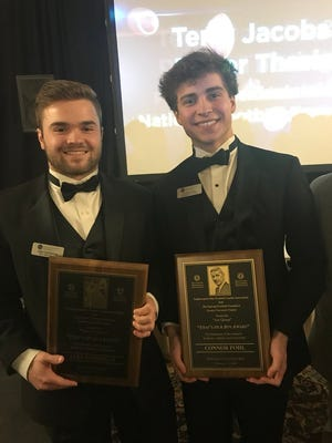 """Cincinnati Country Day's Connor  Pohl and Ryle's Jake Chisholm were winners of the """"That's My Boy"""" awards."""