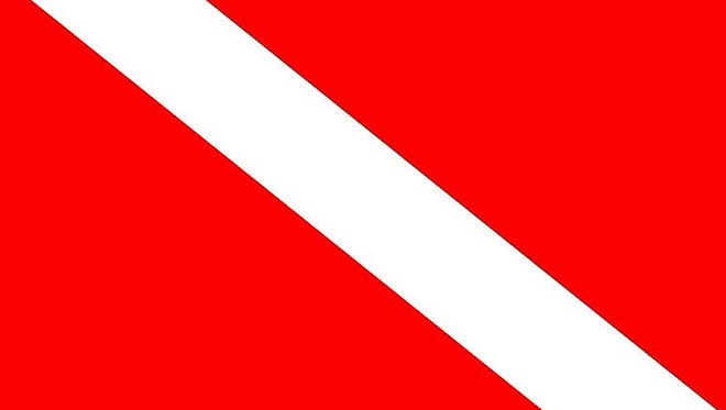 This flag means give a berth of 300 feet by boat. It also means divers must try to stay within 300 feet of their vessel.