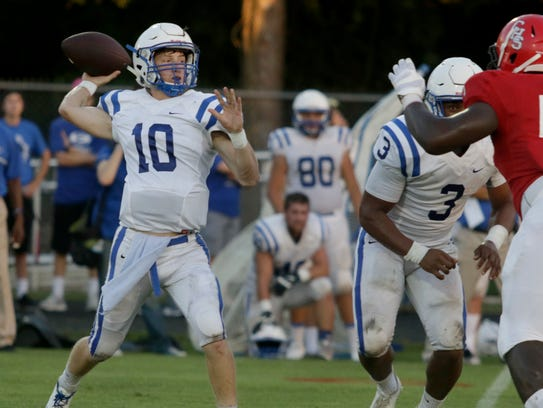 Erath quarterback Mason Granger, shown here earlier