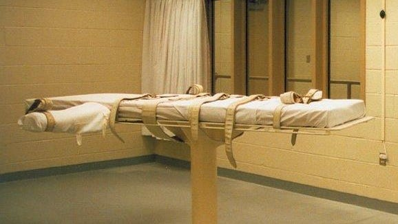 The execution room at the James T. Vaughn Correctional Center in Smyrna is shown.