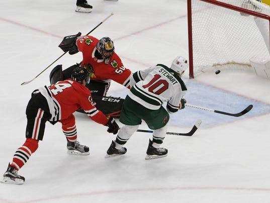 NHL: Minnesota Wild at Chicago Blackhawks