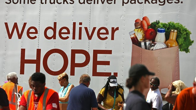 The Department of Public Safety and Gleaners Food Bank have partnered to create the CARE Mobile Food Pantry, which made its first delivery Monday, June 15, 2015, at Nazarene Missionary Baptist Church on East 38th Street in Indianapolis.