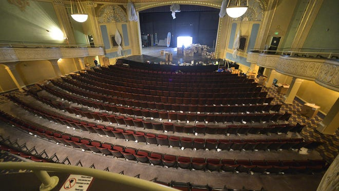 The 806 new American Seating seats are mostly in place in this photo taken in the Paramount Theatre on June 4 in downtown St. Cloud.