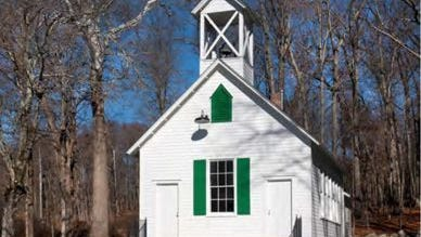 The historic Pyngyp school house is restored.