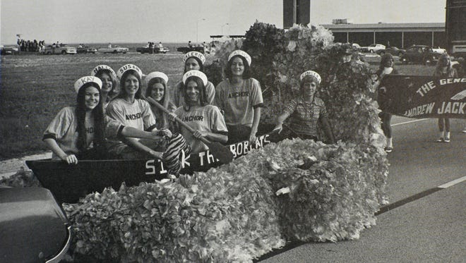 Anchor Club took first place for its float in the inaugural Astronaut High homecoming parade in 1972.