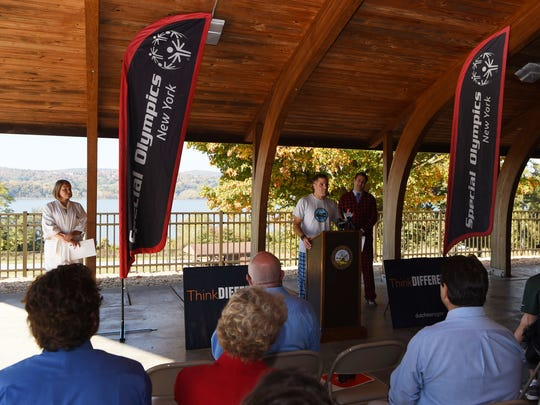 Dutchess County Executive Marc Molinaro announces the return of the Special Olympics New York Winters Games to Dutchess County in February 2017.
