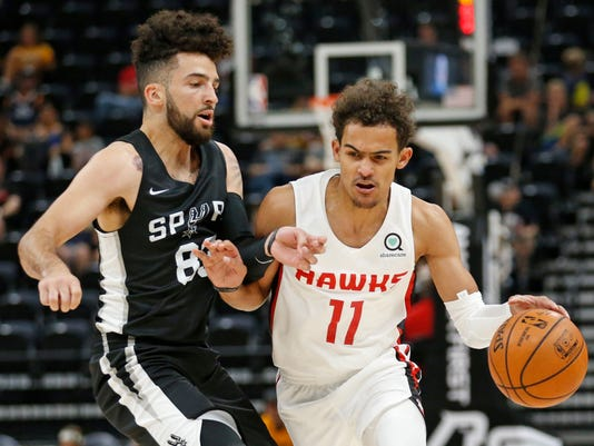 Trae Young, London Perrantes