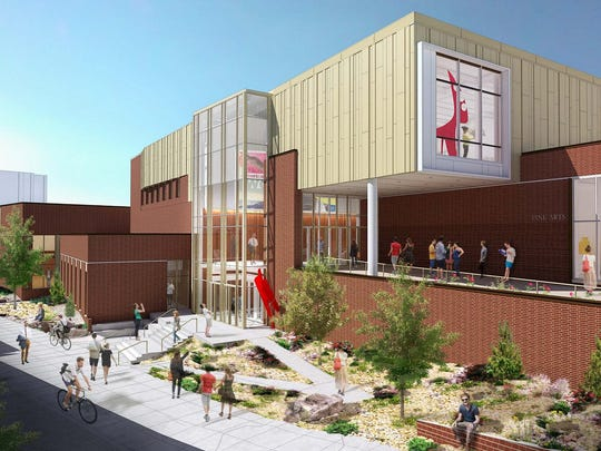 A rendering of the new University of Nevada, Reno Arts Building.