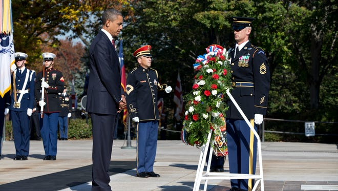 President Obama during Veterans Day last year.