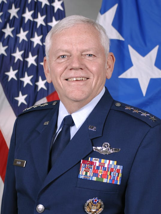 air force busts retired four star general down two ranks for