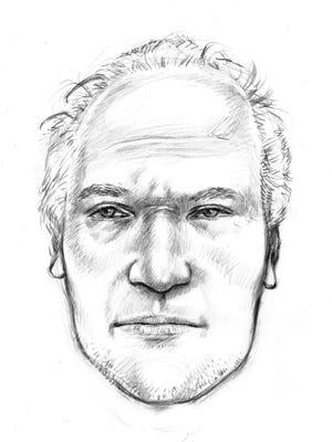 Sketch of a man found dead on Oct. 13, 2011, underneath a bridge near 2801 S. 7th Ave. in Phoenix.