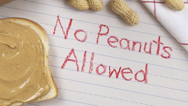 Many children have peanut allergies.