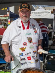Bob Dyer from Canyon Lake, CA with his chili during