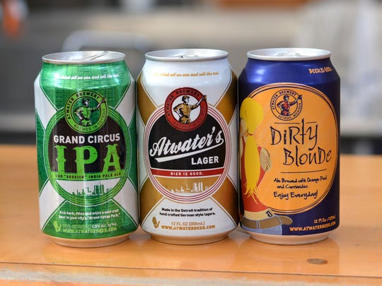 Atwater Brewery is scrapping its former labels, seen here, for new designs created by a local artist.