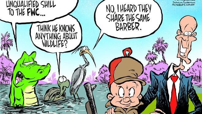 Rick Scott is governor of Florida. The cartoonist's homepage, pnj.com/opinion