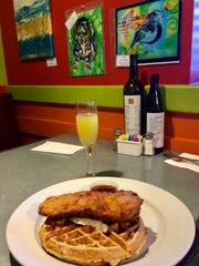 Kool Beanz is known for its fried chicken and sweet potato-pecan waffles as well as its colorful artwork. Add a pitcher of mimosas to celebrate mom.