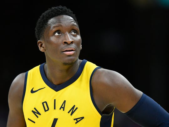Indiana Pacers guard Victor Oladipo has scored fewer