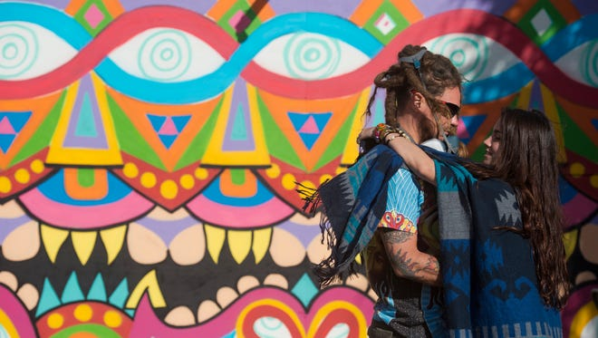 Thousands of visitors attended the Okeechobee Music & Arts Festival on March 3, 2107. This is the second year for the four-day event, which features a variety of musical acts, including Kings of Leon, Usher and The Roots, The Lumineers, Wiz Khalifa and Bassnectar.