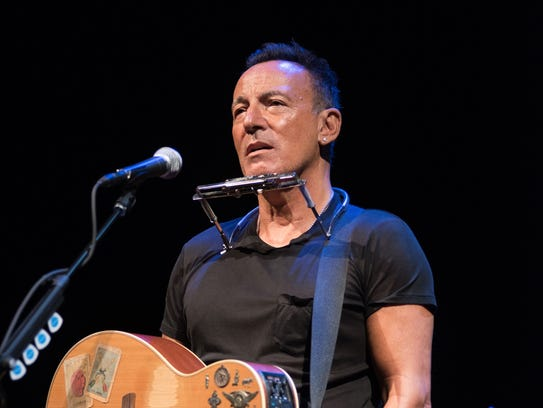 """Bruce Springsteen in """"Springsteen on Broadway."""" Courtesy of Rob DeMartin"""