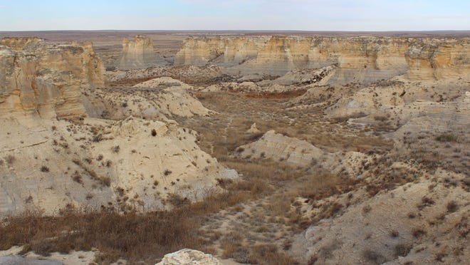 Trails twist and turn through Little Jerusalem Badlands State Park giving visitors a chance to experience Kansas nature up close. The park and trails are located near Oakley in northwestern Kansas.