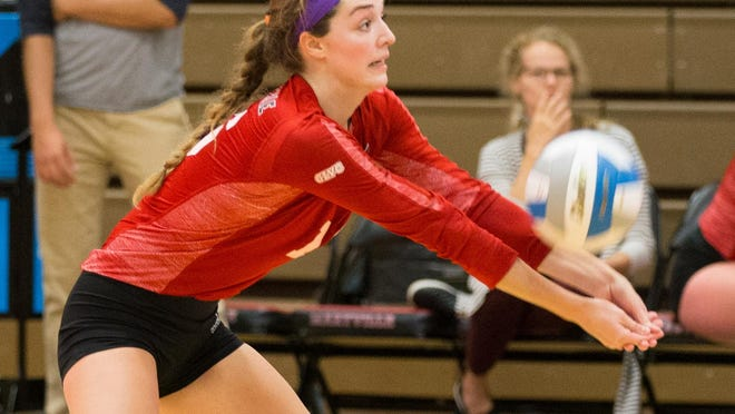 Aquin graduate Cassidy Arndt had a standout senior season for the Maryville University women's volleyball team. She's now moving on to a career in graphic design.