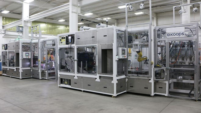Machinery is organized at Koops Inc. -- headquartered in Holland. The company has three locations along Production Court and Production Place, and will spend $445,000 to remodel and expand the footprint of one of its buildings over the next two years.