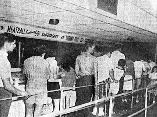 Ramsey's concession stand in 1963.