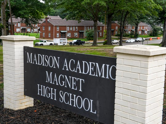 Looking South from Madison Academic Magnet High School towards Allen Street in Jackson, Tenn., as shown on Monday, July 30, 2018.