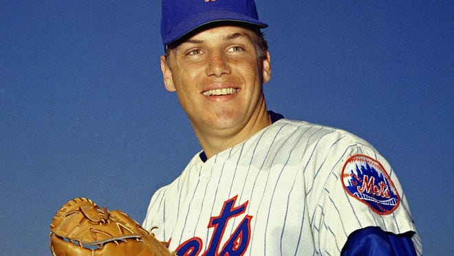 FILE - In this March 1968 file photo, New York Mets pitcher Tom Seaver poses for a photo, location not known. Seaver, the galvanizing leader of the Miracle Mets 1969 championship team and a pitcher who personified the rise of expansion teams during an era of radical change for baseball, has died. He was 75. The Hall of Fame said Wednesday night, Sept. 2, 2020, that Seaver died on Aug. 31 from complications of Lewy body dementia and COVID-19.