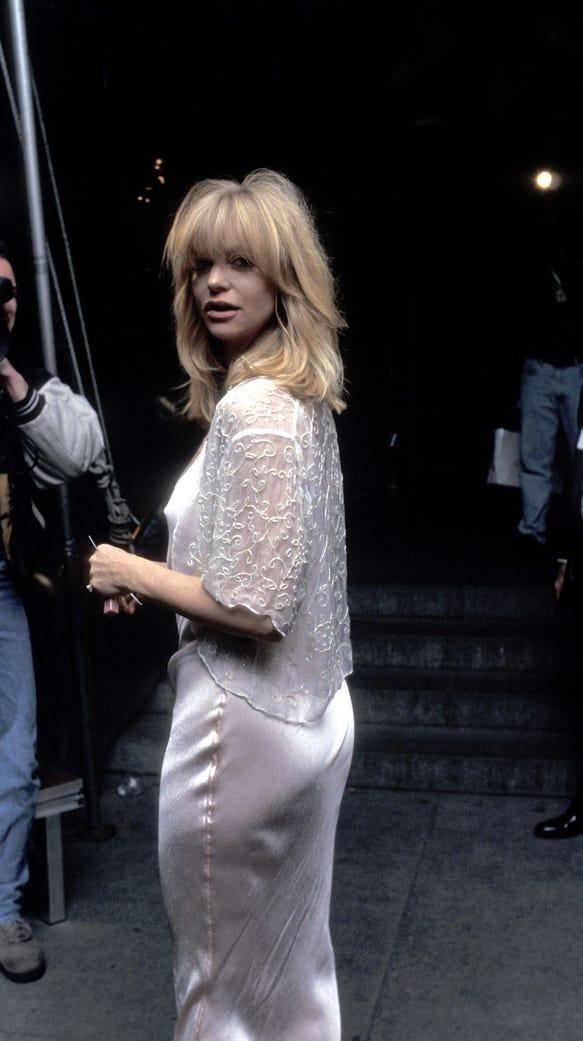 Goldie Hawn at the 1995 Costume Institute Gala at Metropolitan