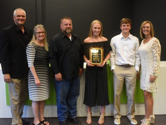 Hannah Pfeifer was named the Jim Holsted Memorial Athlete