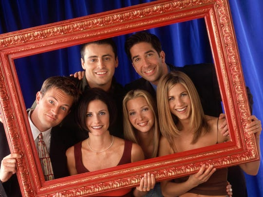 "The real ""Friends"" from the classic NBC series: Matthew Perry (clockwise from far left), Matt LeBlanc, David Schwimmer, Jennifer Aniston,  Lisa Kudrow and Courteney Cox."
