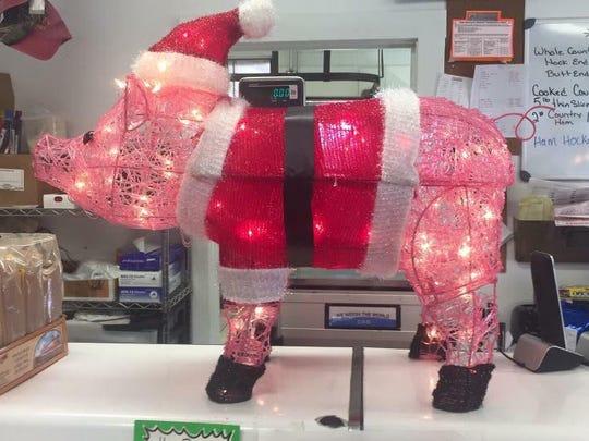 Oscar seen inside Stanley Meat Market in Staunton.