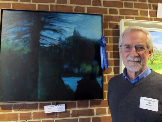 "Michael Metzger of Westfield was awarded 1st Place in the category of Oil painting by a professional for his painting titled ""Rhineland."""