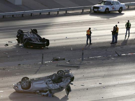 El Paso police investigate a multi-vehicle accident